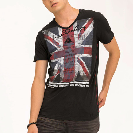 EUnion Jack T-Shirt // Black (S)