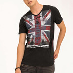 EUnion Jack T-Shirt // Black (XL)