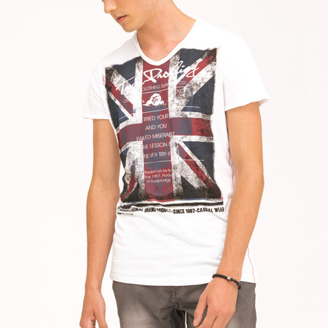 EUnion Jack T-Shirt // White (S)