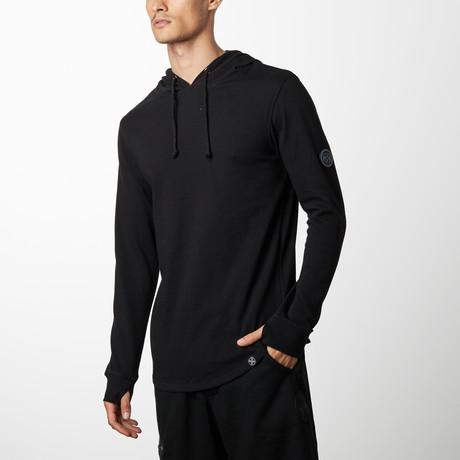 T-Shirt Hoodie // Black