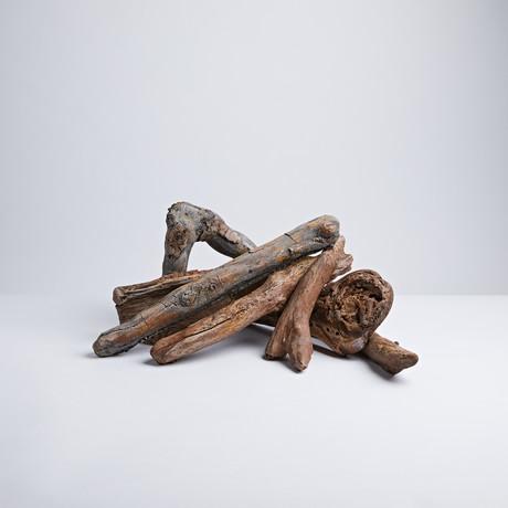 18 Table Top Driftwood Log Set