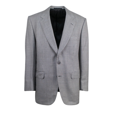 D'Avenza // Wool-Silk 2-Button Classic Fit Sport Coat // Gray (US: 48R)