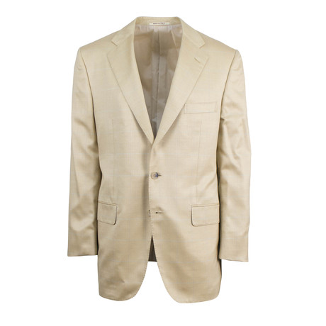 D'Avenza // Wool-Silk 2-Button Classic Fit Sport Coat // Brown (US: 48R)