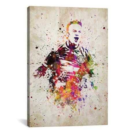 "Wayne Rooney // Aged Pixel (26""W x 40""H x 1.5""D)"