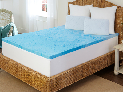 """Photo of Rio Home Fashions The Complete Bedding Event Arctic Sleep // 2"""" Marbleized Gel Memory Foam Topper (Twin) by Touch Of Modern"""