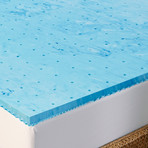 "Arctic Sleep // 1.5"" Cooling Gel 5-Zone Memory Foam Topper (Twin)"
