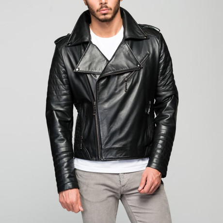Sabele Leather Jacket // Black (XS)