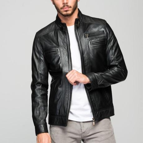 Bertorelli Leather Jacket // Black (XS)