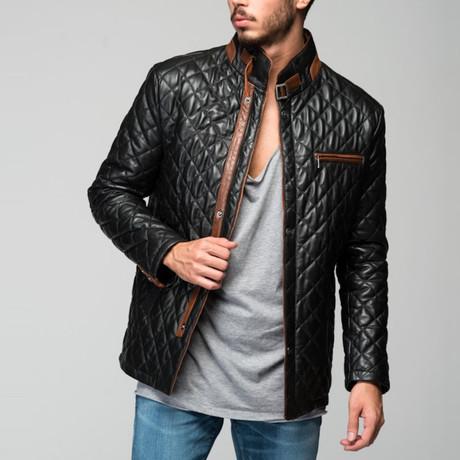 Evremondo Leather Jacket // Black (XS)