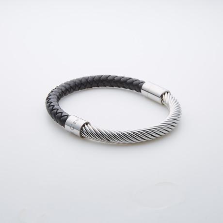 Jean Claude Jewelry // Cuff Bracelet // Black + Silver