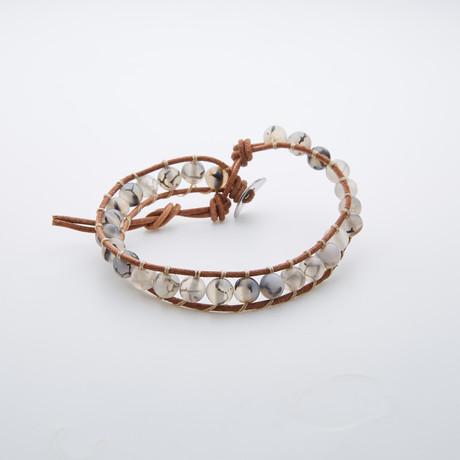 Agate Macrame Bracelet