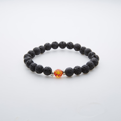 Jean Claude Jewelry // Spiritual + Healing Bracelet // Yellow + Red Amber