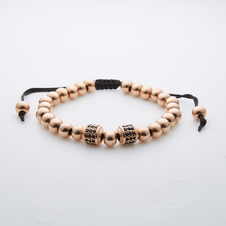 Jean Claude Jewelry // Oz Rose Gold Plated Beaded Bracelet