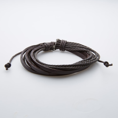 Multi-Layer Braided Leather Bracelet