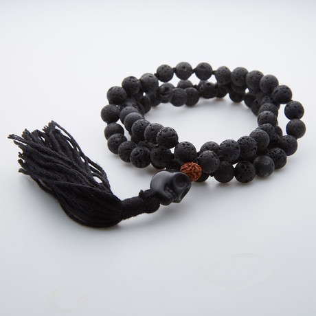 Lava Stone + Stainless Steel Necklace