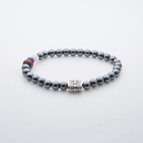 Round Hematite Beads // American Pride