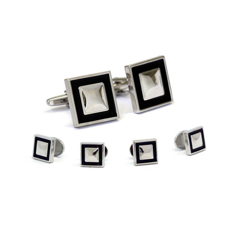 Formal Stud Set I // Silver + Black