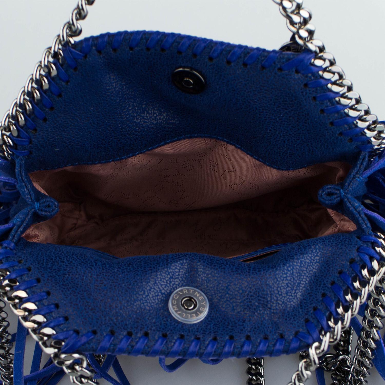 2968c24fcd Stella McCartney    Tiny Falabella Suede Fringe Shoulder Bag    Blue ...