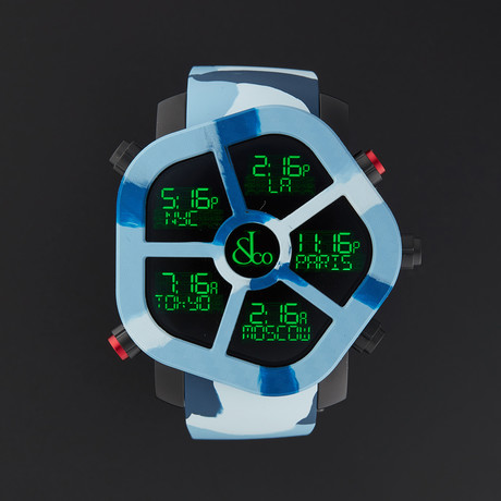 Jacob & Co. Ghost Carbon Quartz // Blue Camouflage // GH100.11.NS.PC.ANA4D // New