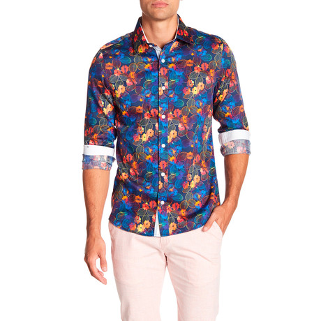 Lorawitz Printed Dress Shirt // Multi (S)