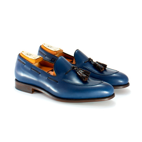 Loafer // Navy + Brown (US: 6)