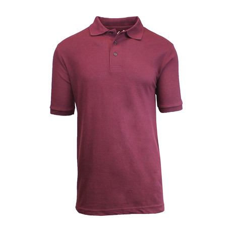 Pique Polo // Burgundy (S)