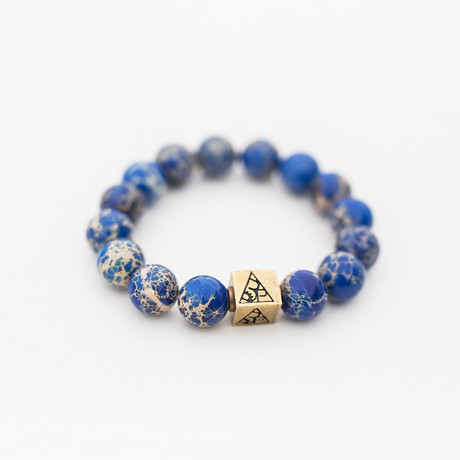 Regalite Bead Bracelet - 12MM // Brass Logo Bead