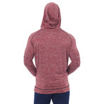 Ringside Fitness Tech Henley Hooded Pullover // Red (S)