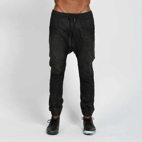 Drop Crotch Jogger Manning // Black (L)