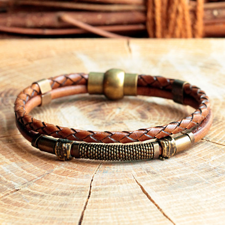 Cono Bracalet // Brown + Brass