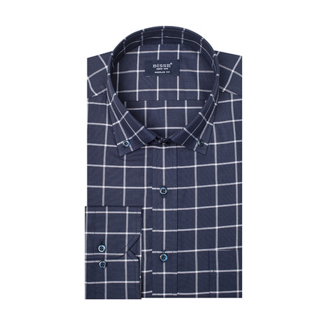 Madison LS Button-Up Shirt // Navy (2XL)