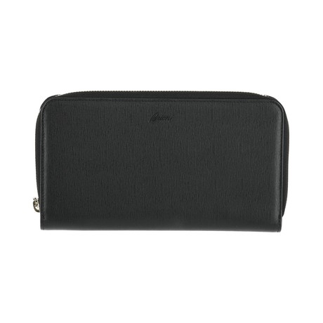Zip Wallet // Black Gray