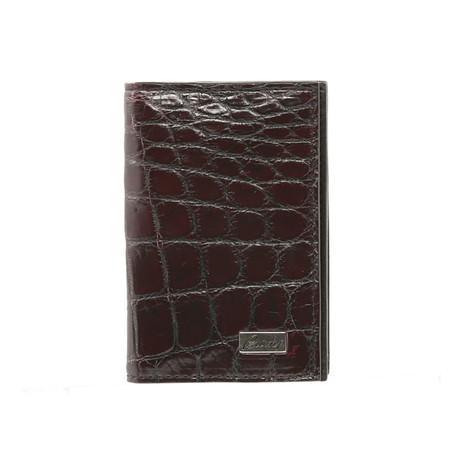 Bi-Fold Card Wallet // Burgundy + Black