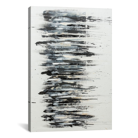 "Shading in Black // Shawn Jacobs (18""W x 26""H x 0.75""D)"