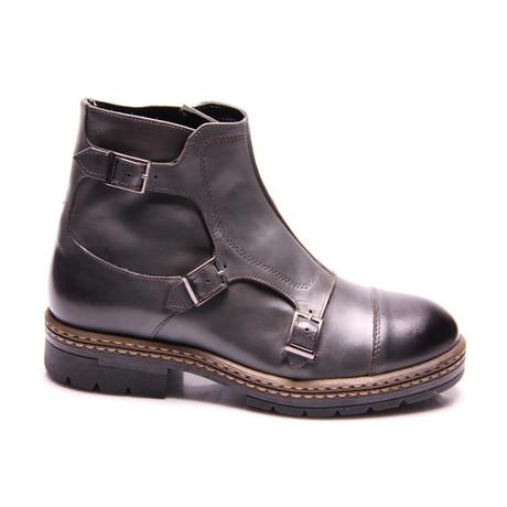 Kasey Triple Monk Boot // Gray Antique (Euro: 40)