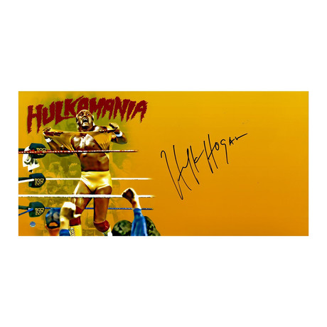 Signed 'Hulkamania' Photo // Hulk Hogan