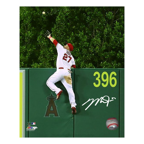 Mike Trout Signed LA Angels Photo