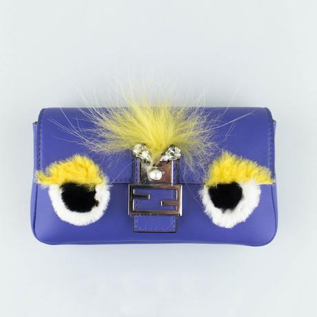 Micro Bad Bugs Baguette Messenger Bag // Purple