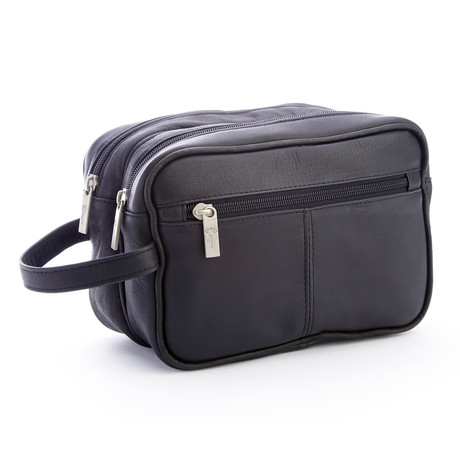 Toiletry Bag // Colombian Leather (Black)