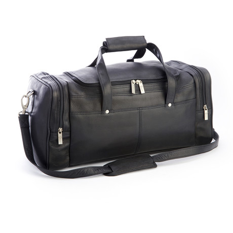 Overnight Carry On Duffel Bag // Colombian Leather (Black)