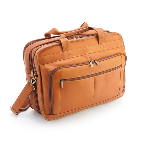 """15"""" Laptop Expandable Brief // Colombian Leather"""