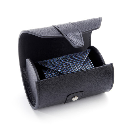 Travel Tie Carrying Case // Pebbled Leather