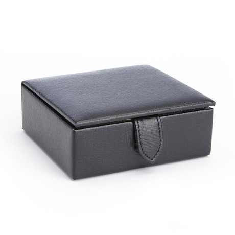 Italian Leather Cufflink Storage Box // 4 Pairs