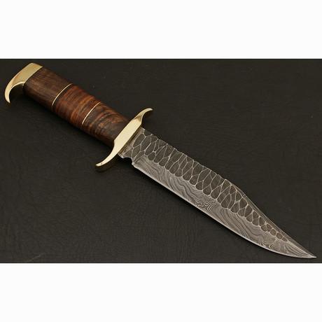 Damascus Bowie Knife // BK009