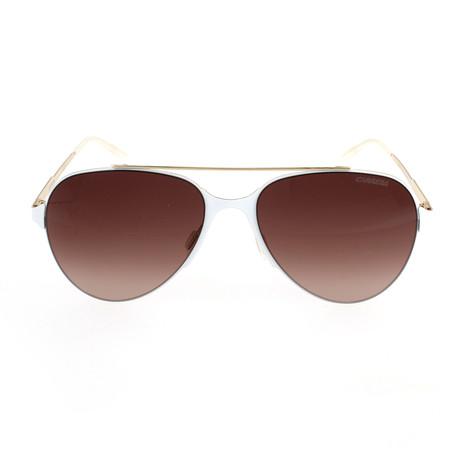 Carrera 113 Sunglasses // Gold Matte White