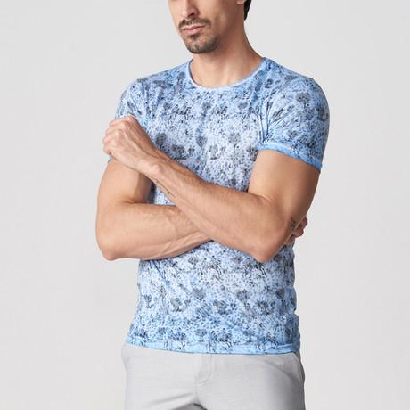 Cyril Printed T-Shirt // Blue