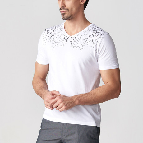 Robbie Printed T-Shirt // White