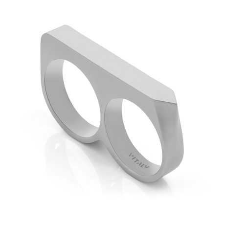 Treo Double-Finger Ring // Stainless Steel