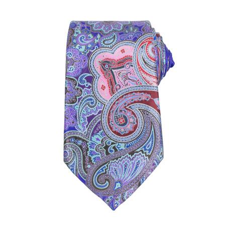 Ermenegildo Zegna // Quindici 15 Silk Neck Tie // Purple + Pink