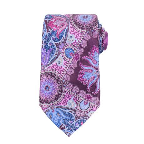 Ermenegildo Zegna // Quindici 15 Silk Neck Tie // Purple + Blue